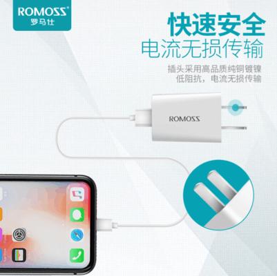 罗马仕 双口闪充充电器 苹果安卓通用