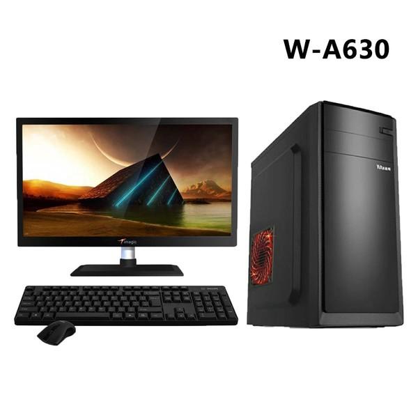 AMD 实惠办公及 4G内存 120G品牌固态硬盘 台式企业游戏电脑主机DIY