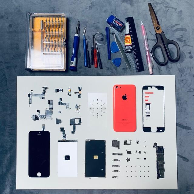 旧iPhone机拆出来拼纪念画,确定不要送给男友?