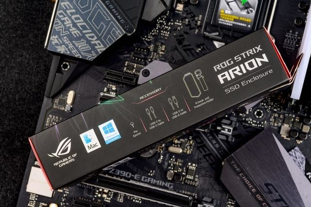 信仰随身走,插上RGB的翅膀,ROG STRIX ARION SSD外接盒