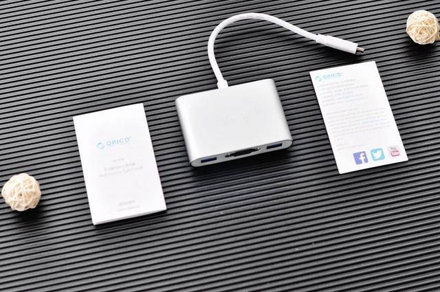 拯救轻薄笔记本接口,奥睿科(ORICO)Type-c转VGA+USB五合一扩展坞