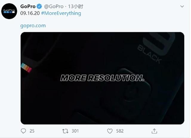 GoPro Hero 9 Black可拍摄5K视频