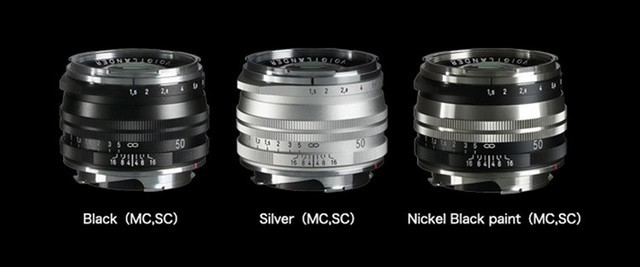 确善能推出福伦达50mmF1.5二代镜头 提供单层、多层镀膜