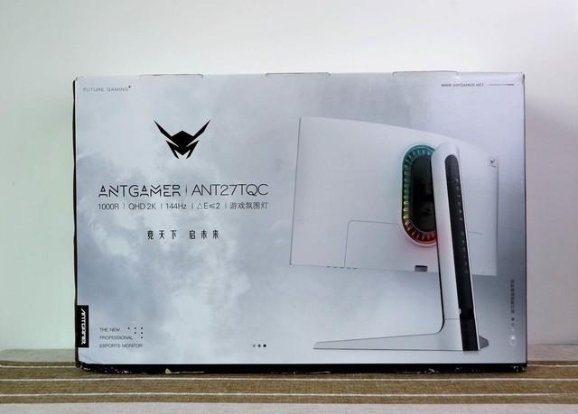 蚂蚁电竞ANT27TQC开箱:宇航白彰显优越颜值